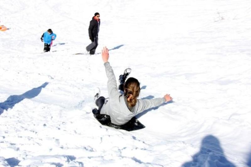 Rize'de petranboardla kayak heyecanı