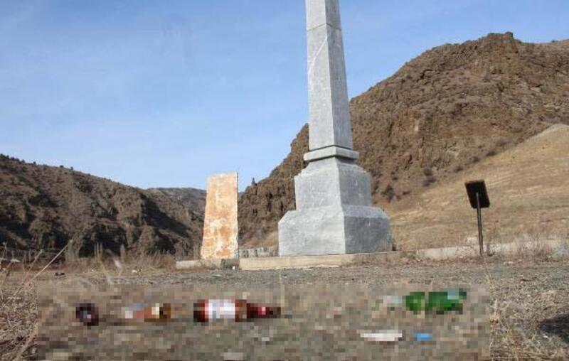 Allahuekber şehitleri için yapılan anıtın çevresindeki kirliliğe tepki