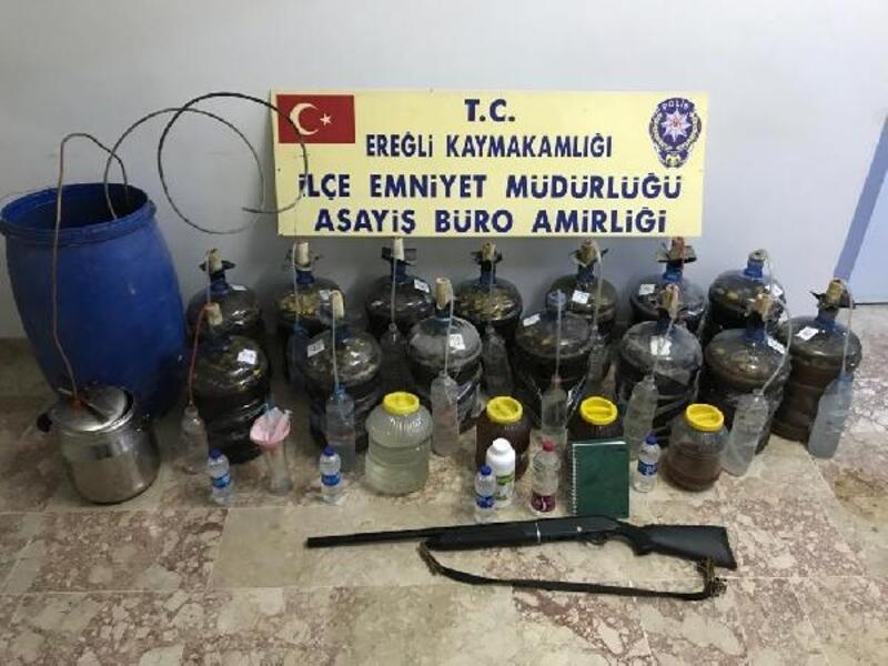 Ereğli'de kaçak içki operasyonu: 1 gözaltı