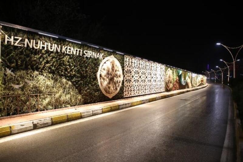 Şırnak'ta dikey bahçe yapıldı