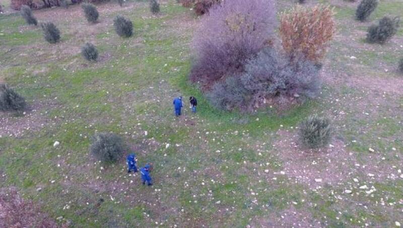 Ezine'de kaçak kazıya drone ile suçüstü yapıldı