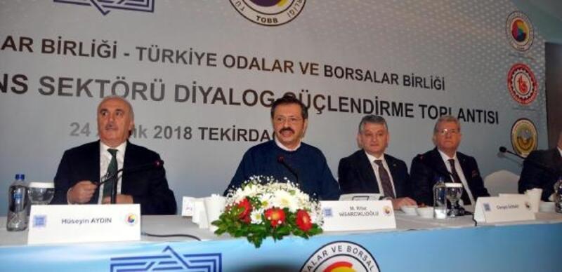 TOBB Başkanı Hisarcıklıoğlu: Son dönemde ekonomimizde olumlu gelişmeler var