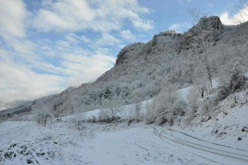 Küre Dağları Milli Parkı'nda kış güzelliği