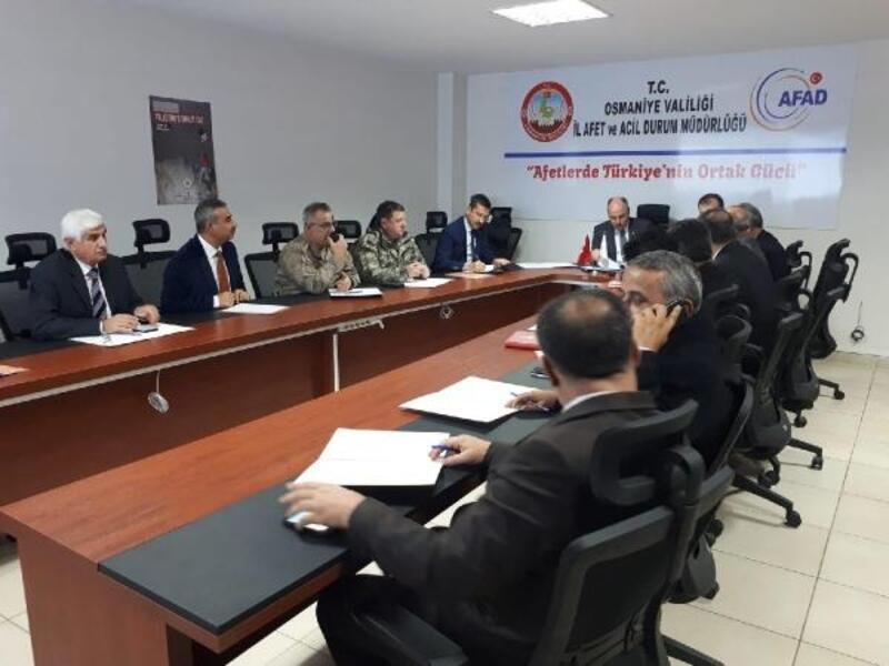 Osmaniye'de, Masa Başı Deprem Tatbikatı