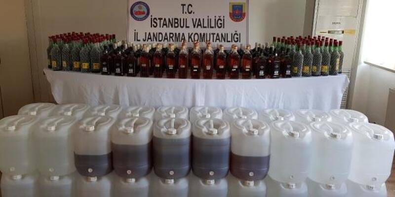 Evde sahte içki imalatına Jandarma baskını