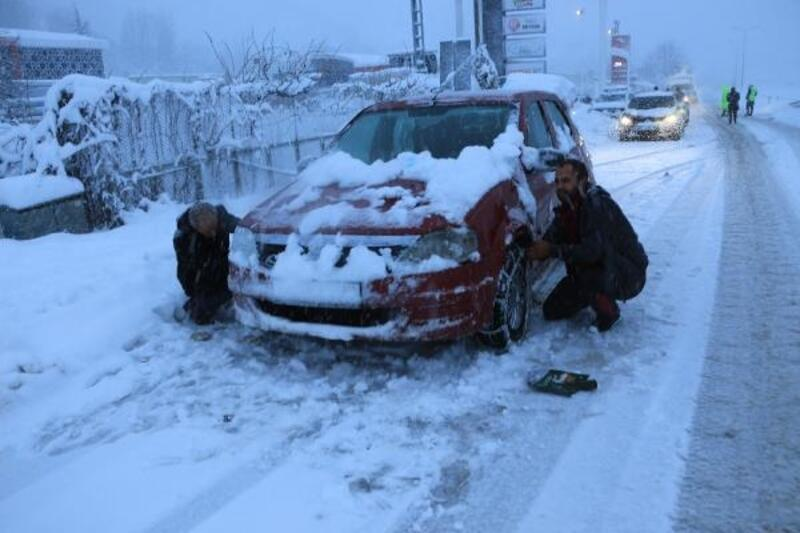 Tokat'ta eğitim ve ulaşıma kar engeli