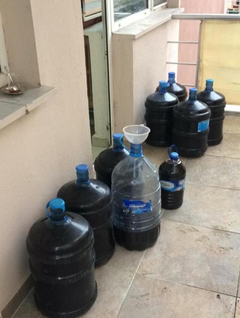 Tekirdağ'da kaçak içki operasyonu: 7 gözaltı
