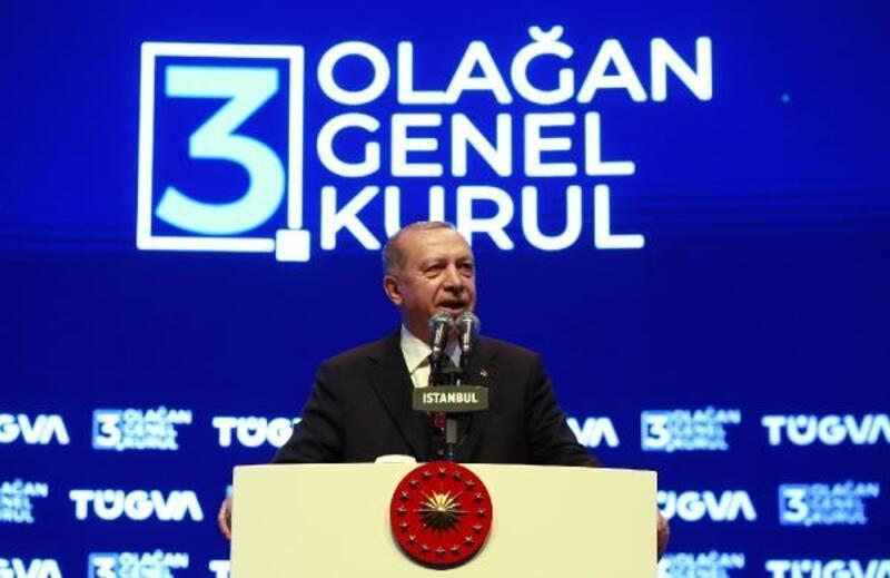 Erdoğan, TÜGVA Olağan Genel Kurulu'nda konuştu (1)