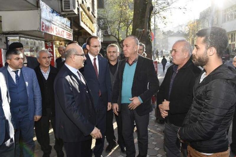 Vali Demirtaş'tan Kaymakam Sarıdoğan'a 'hayırlı olsun' ziyareti