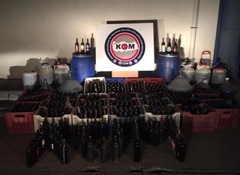 Çiftlikte 5 bin 200 şişe sahte şarap ele geçirildi