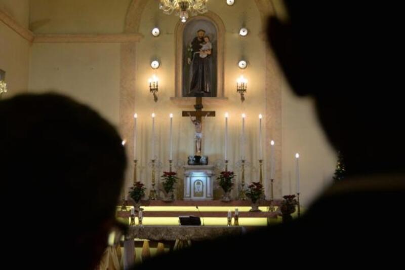 Mersin'deki Noel ayininde barış için dua edildi