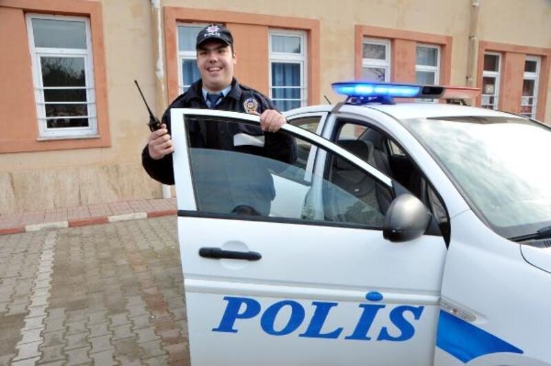Özel eğitim öğrencisinin trafik polisi olma hayali gerçek oldu