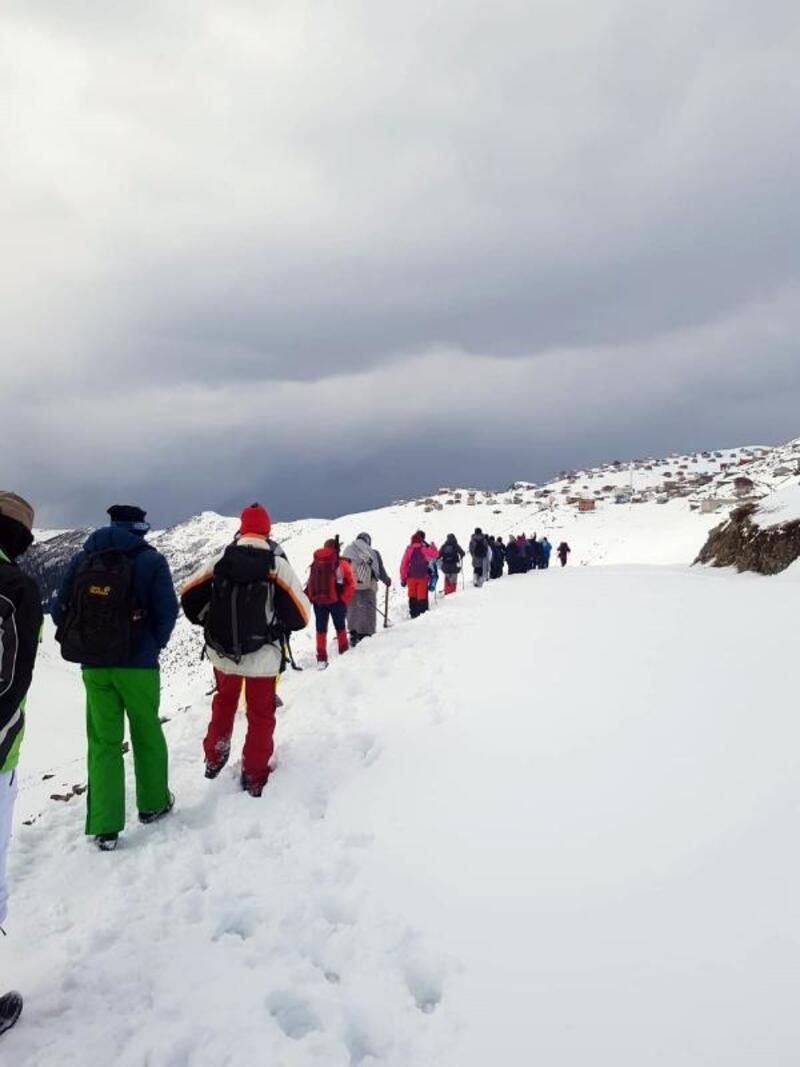 Doğaseverler, İkizdere'de kar yürüyüşünde buluştu