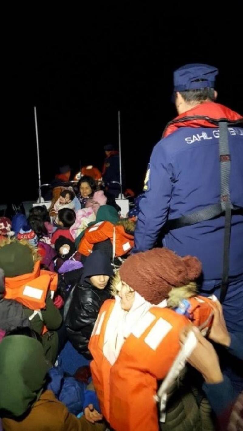 Çanakkale'de 39'u çocuk 62 kaçak yakalandı