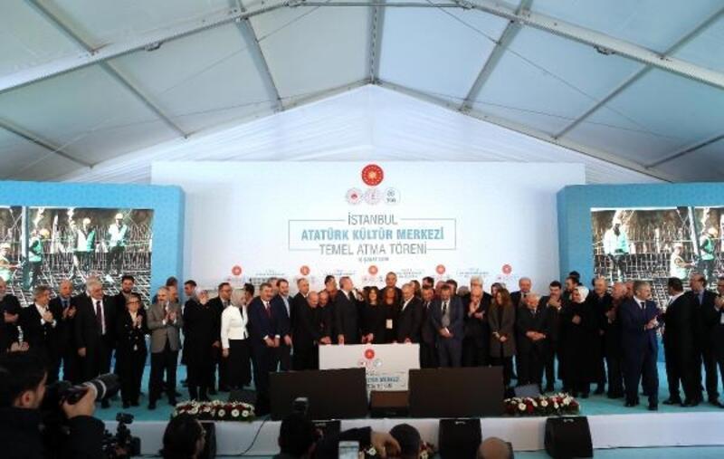 Cumhurbaşkanı Erdoğan, Yeni AKM Projesi'nin temel atma töreninde konuştu