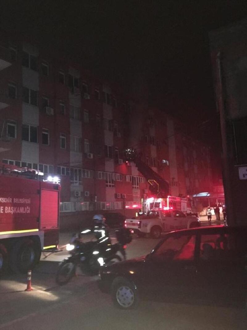 Balıkesir Devlet Hastanesi'nde kısa süreli yangın panigi
