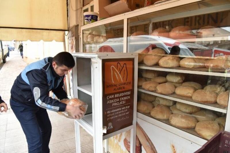 Çan Belediyesi, 'Askıda Ekmek' uygulaması başlattı