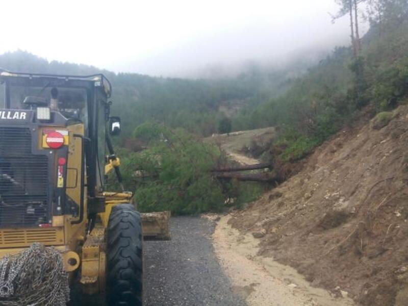 Kahramanmaraş'ta aşırı yağışlar heyelana neden oldu