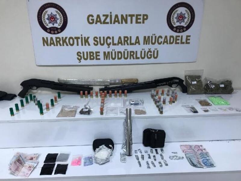 Gaziantep'te 25 adrese uyuşturucu operasyonu: 10 tutuklama