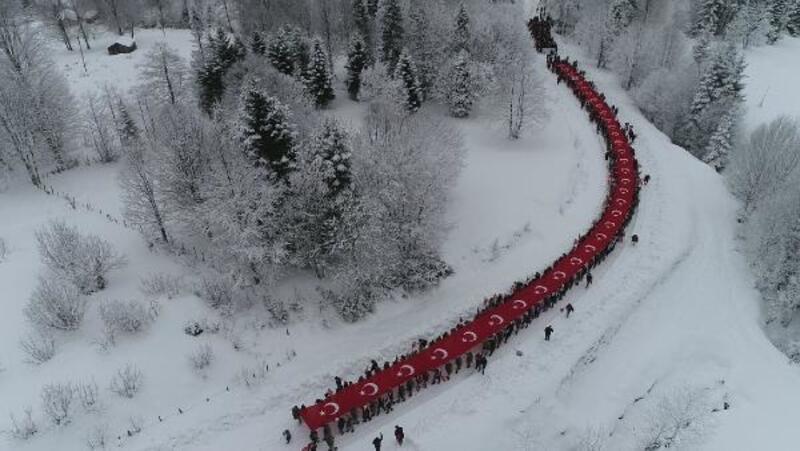 Trabzon'da Sis Dağı'nda Sarıkamış şehitleri anıldı