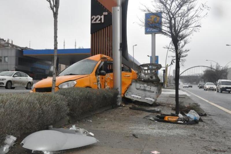 Ankara'da kaza: 1 yaralı