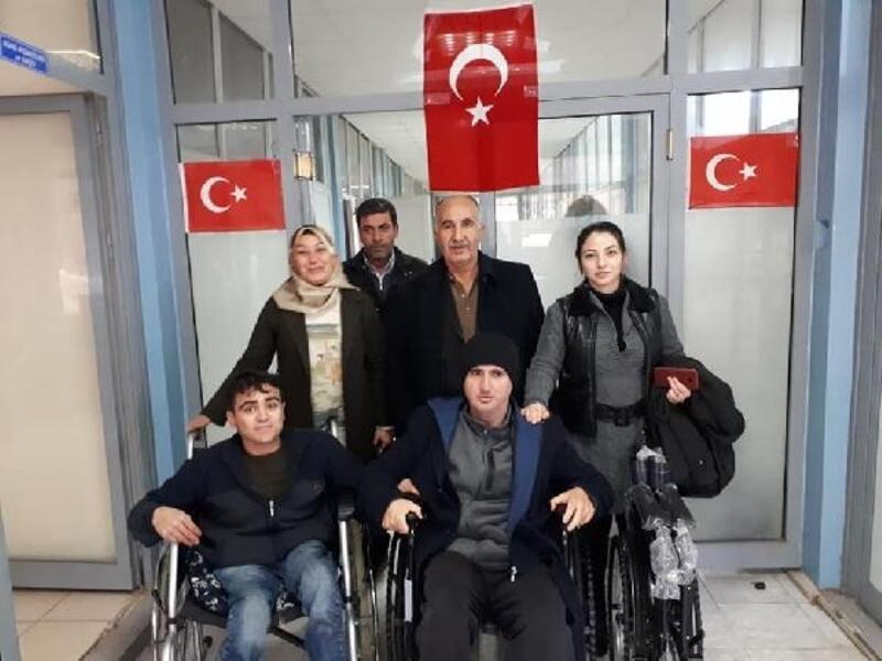 Besni'de engellilere tekerlekli sandalye