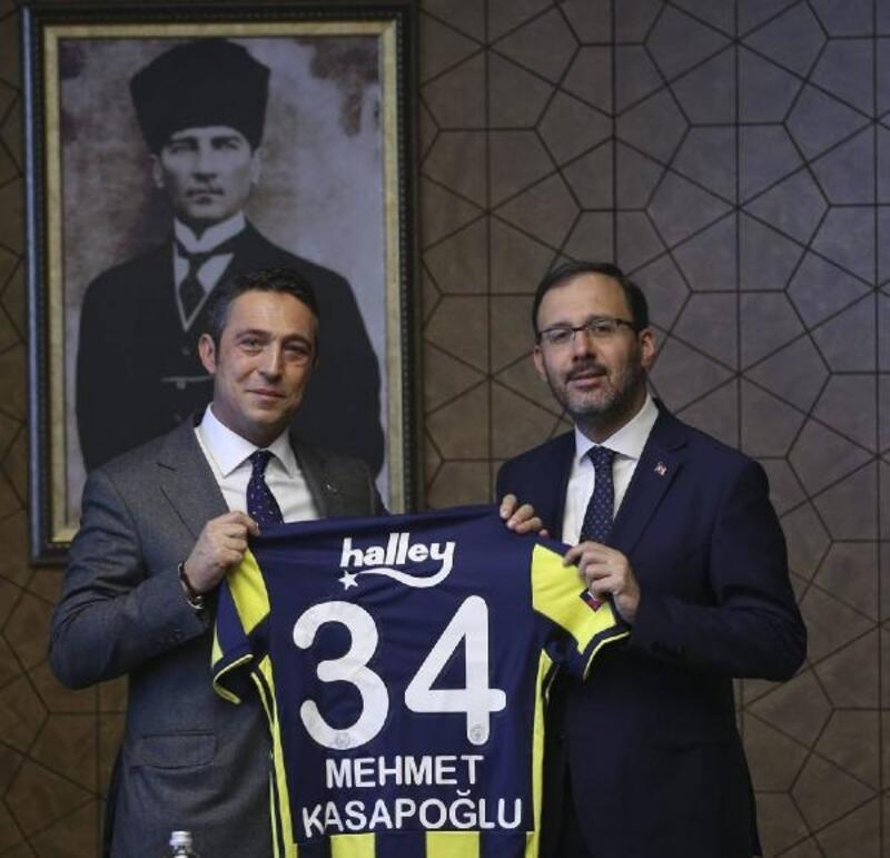 Bakan Kasapoğlu, Ali Koç'u kabul etti