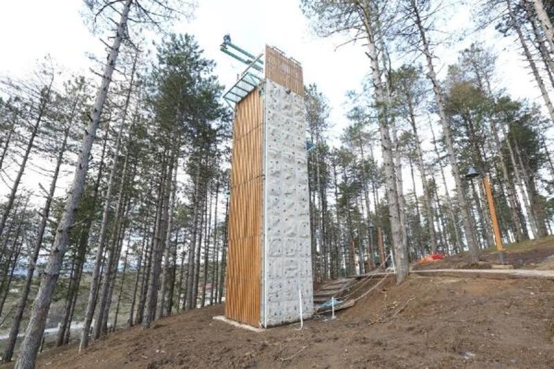 Ordu'da, Boztepe'ye 'Macera parkı' kuruldu