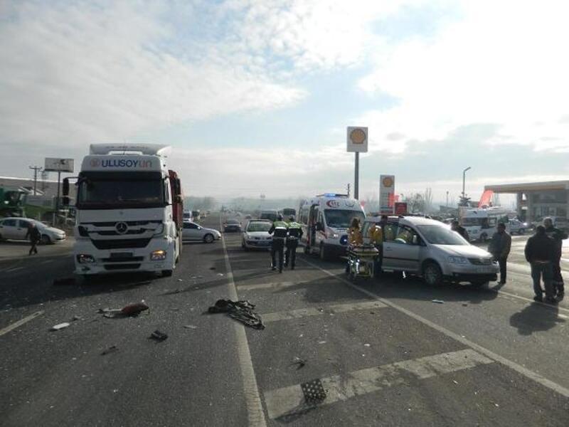 Lüleburgaz'da kaza: 1 yaralı