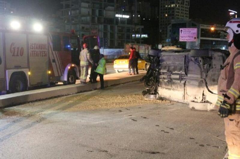 Kağıthane'de trafik kazası: 1 yaralı