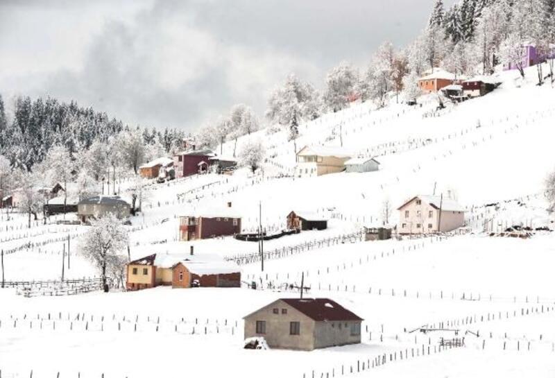 Karadeniz'de kış güzelliği