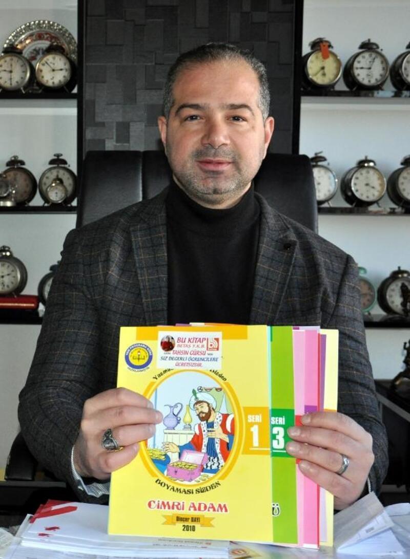 Isparta'da öğrencilere 50 bin boyama kitabı