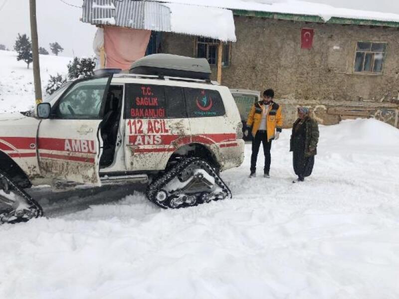 Paletli ambulansla 90 hastayı kurtardılar