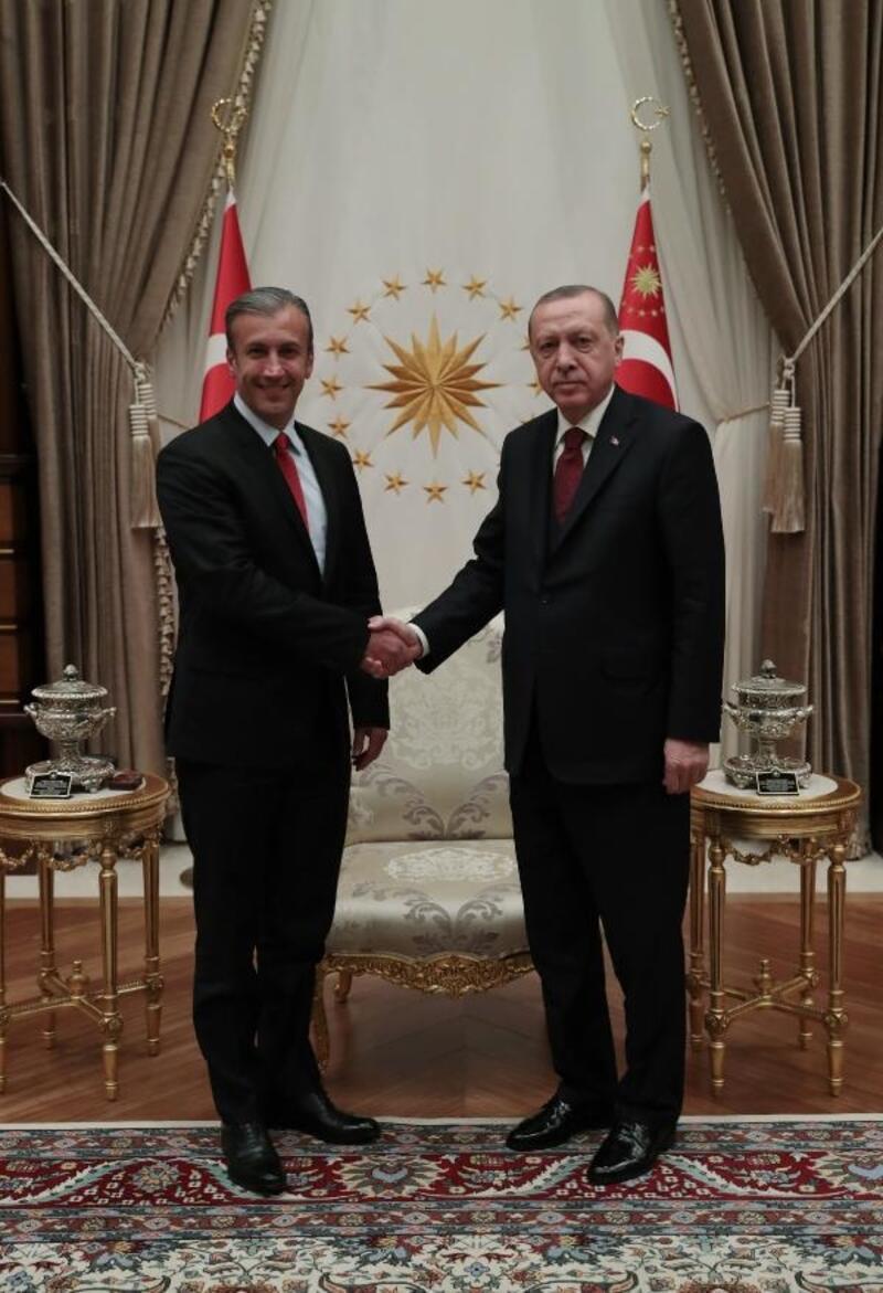 Cumhurbaşkanı Erdoğan, Venezuela Devlet Başkan Yardımcısı Tareck Zaidan El Aissami Maddah'ı kabul etti