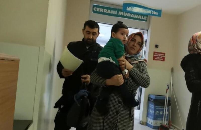 Antibiyotik hap yutan 2 yaşındaki Miran Ali, hastanelik oldu