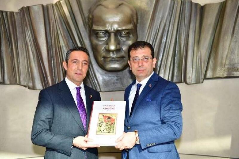 İmamoğlu, Fenerbahçe Başkanı Ali Koç'u ziyaret etti
