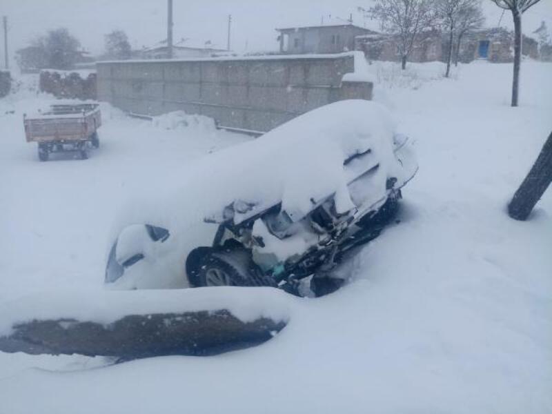 Otomobil, ağaca çarpıp, şarampole düştü