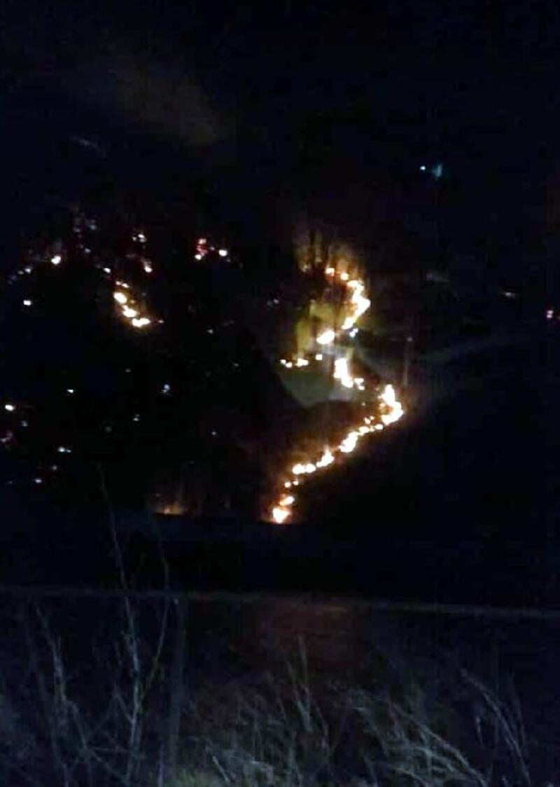 Çaykara'da orman yangını: 10 dönüm alan zarar gördü