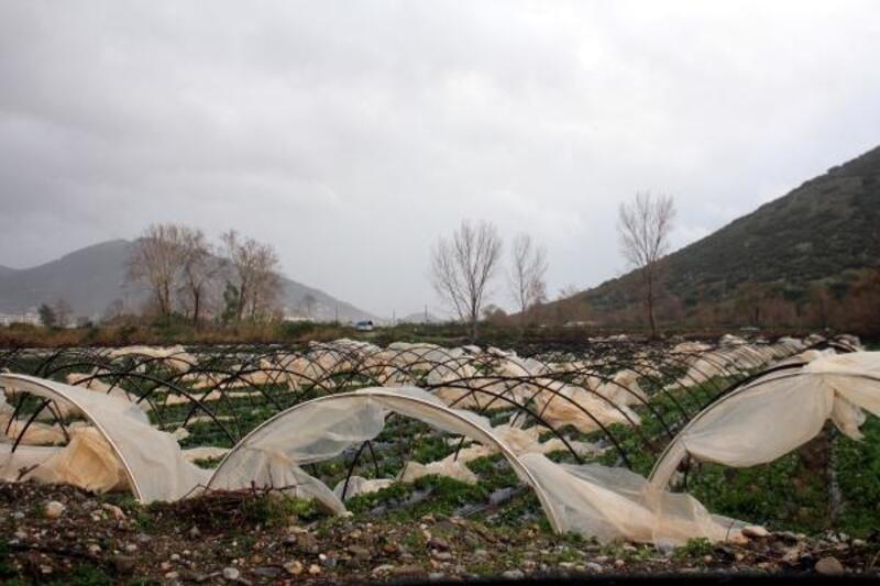 Fırtına ve yağmur Antalya'da hasara neden oldu