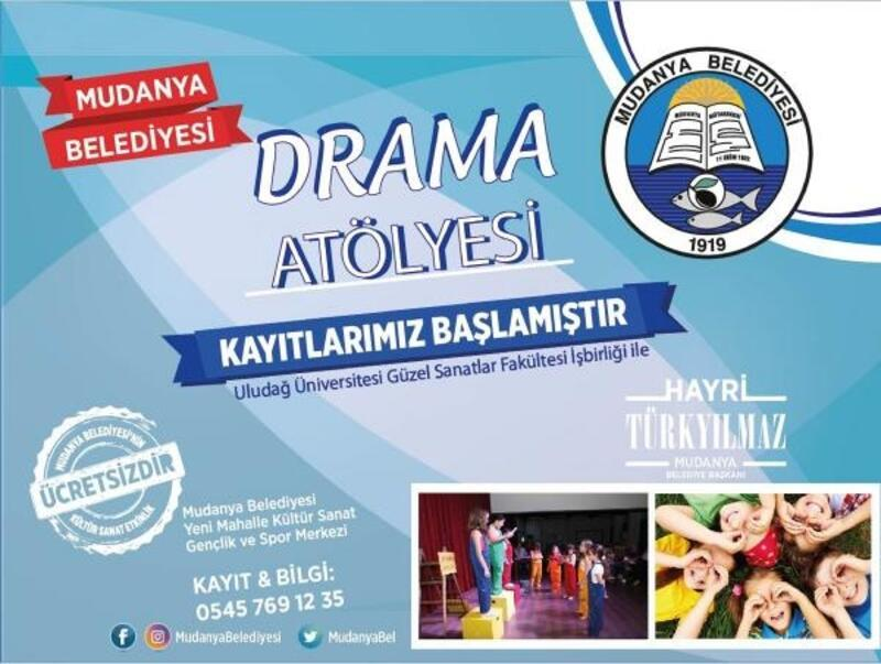 Mudanya Belediyesi çocuklara özel drama atölyesi kuruyor