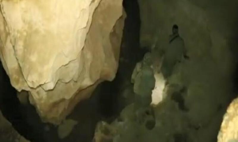 Tunceli'de teröristlerin, mağaradaki görüntüleri ortaya çıktı