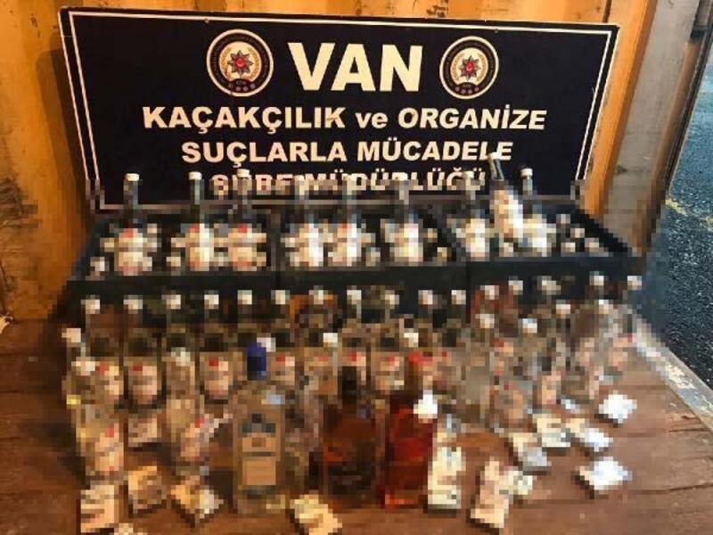 Van'da 107 şişe kaçak içki ele geçirildi