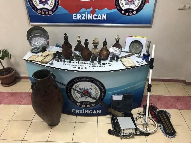Erzincan'da tarihi eser kaçakçılığı operasyonu: 25 gözaltı