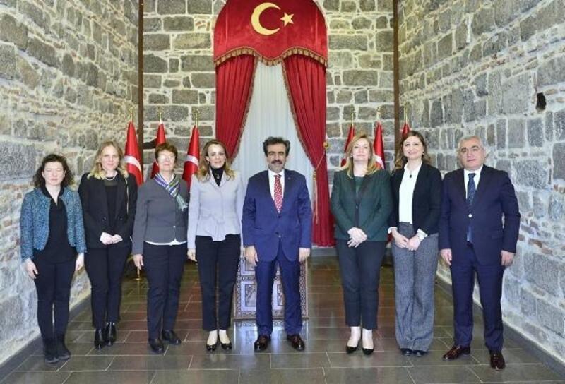 UNESCO heyetinden Vali Güzeloğlu'na ziyaret