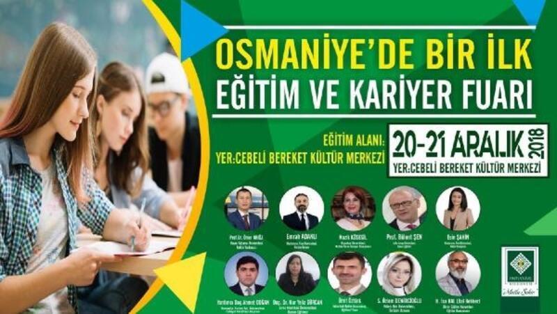 Osmaniye'de Eğitim ve Kariyer Fuarı düzenleniyor