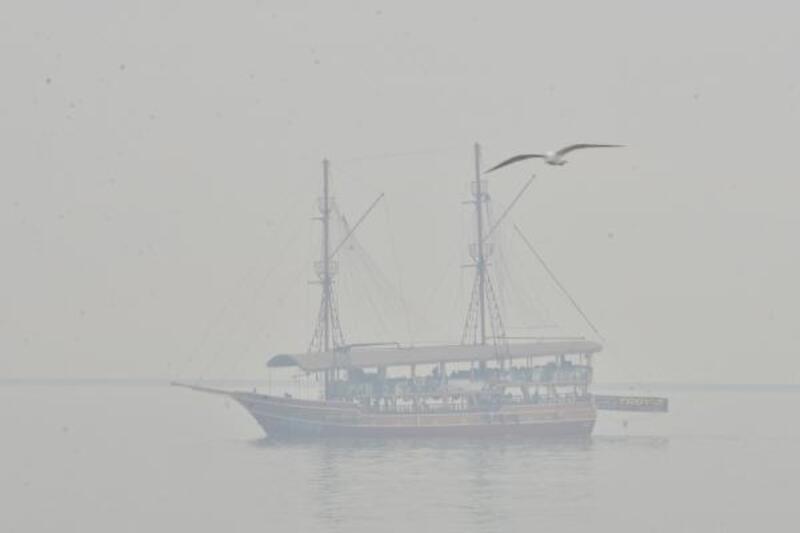 Mersin'de sis yoğunluğu