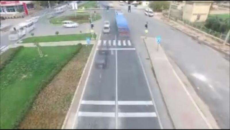 Mardin'de trafik milli drone ile denetlendi
