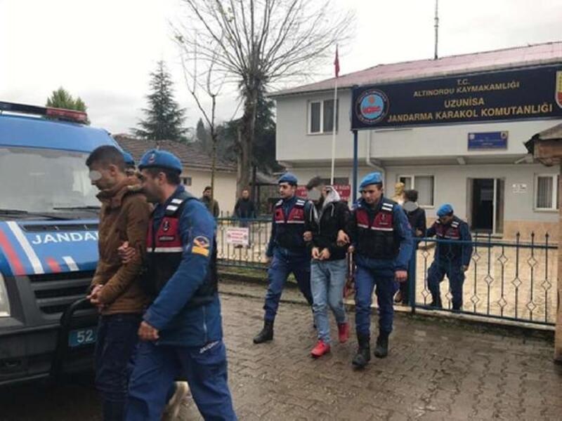 Ordu'da otomobil yağmalayan 3 kişi yakalandı