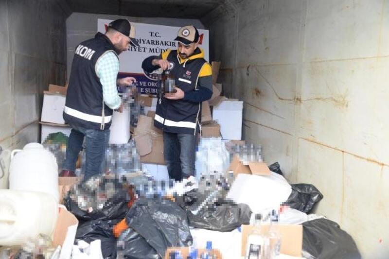 Diyarbakır'da 2 bin litre sahte içki ele geçirildi