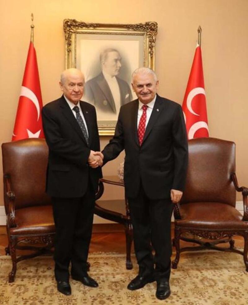 TBMM Başkanı Yıldırım, Devlet Bahçeli ile görüştü